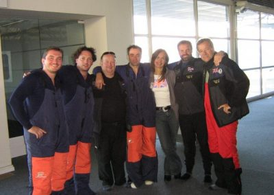 The team ready to fly to Antarctica