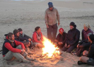 Campfire on the Skeleton Coast