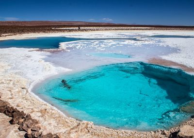 Thermal pools in the Atacama desert