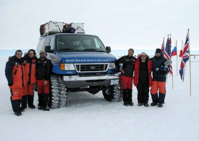 The Ice Challenger team at the South Pole